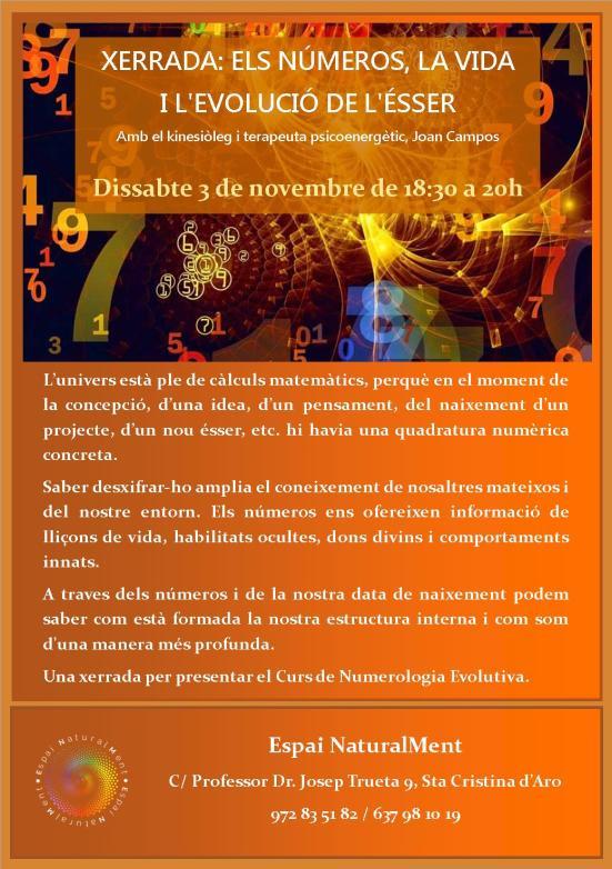 xerrada de numerologia 3 de novembre 2018